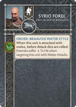 Syrio Forel - First Blade Of Braavos (Verso) US