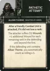 Alliser Thorne - Master At Arms - Pathetic Attempt
