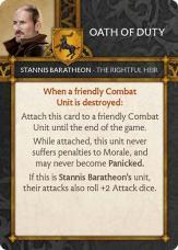 Stannis Baratheon - The Rightful Heir Oath Of Duty