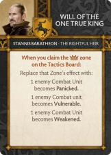 Stannis Baratheon - The Rightful Heir Will Of The One True King