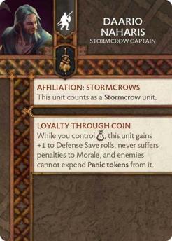 Daario Naharis - Stormcrow Captain (Verso) US