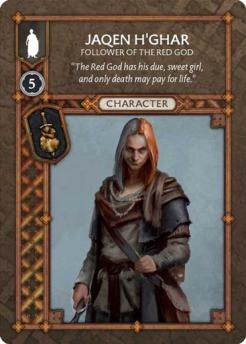 Jaqen H'Ghar - Follower OF The Red God (Recto) US