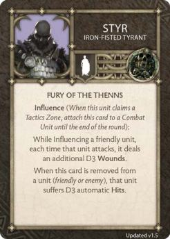 Styr - Iron-Fisted Tyrant (Verso) 1.5 US