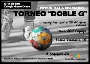 """Cartel del Torneo de Fútbol-sala Solidario """"Doble G"""""""