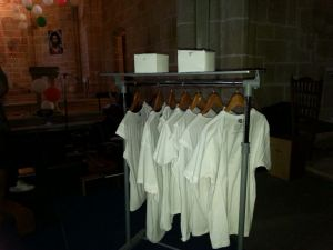 Camisetas de AS para la dinámica (Foto: Justi Sánchez)