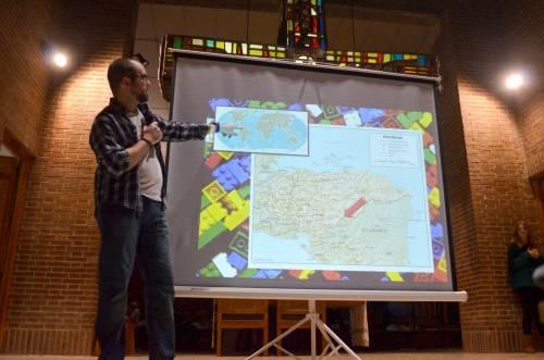 Samuel presenta el proyecto (Foto: Miguel A. Moreno)