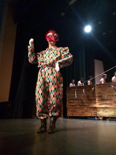 Arlequín, interpretado por Íñigo Montero (Foto: Damián Mª Facebook)