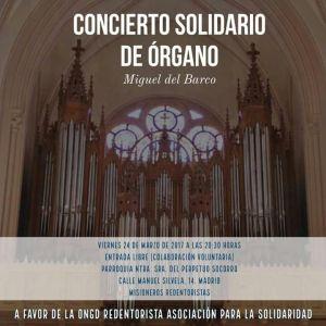 Concierto Solidario de Órgano en el PS de Madrid