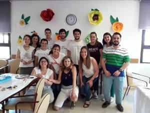 Voluntarios AS en los Talleres Intergeneracionales 2017 en Santa Fe (Granada)
