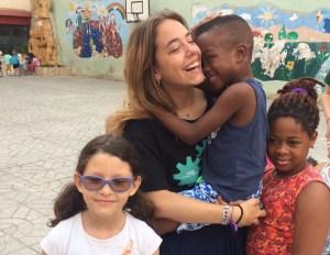 Con los niños del campamento de Nazaret (Valencia)