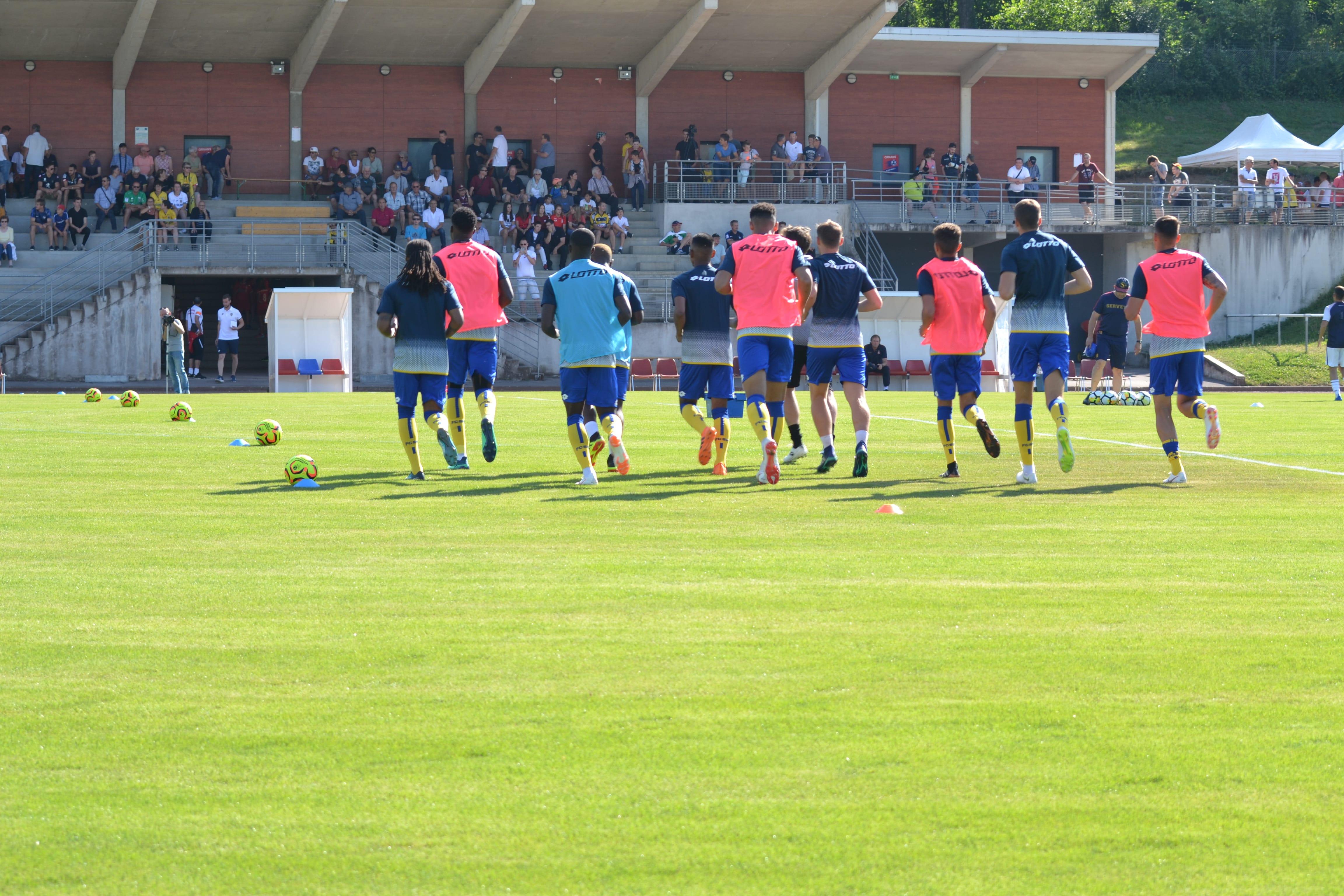 Photo match amical entre le FC Sochaux Montbéliard et le FC Servette Genève