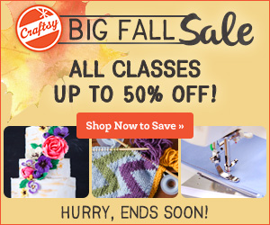 Join Craftsy for Crafting Supplies & E-Courses