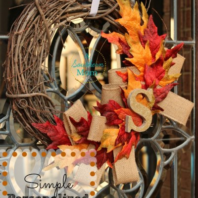 Simple & Personalized Fall Wreath – Great Beginner Crafting Project!