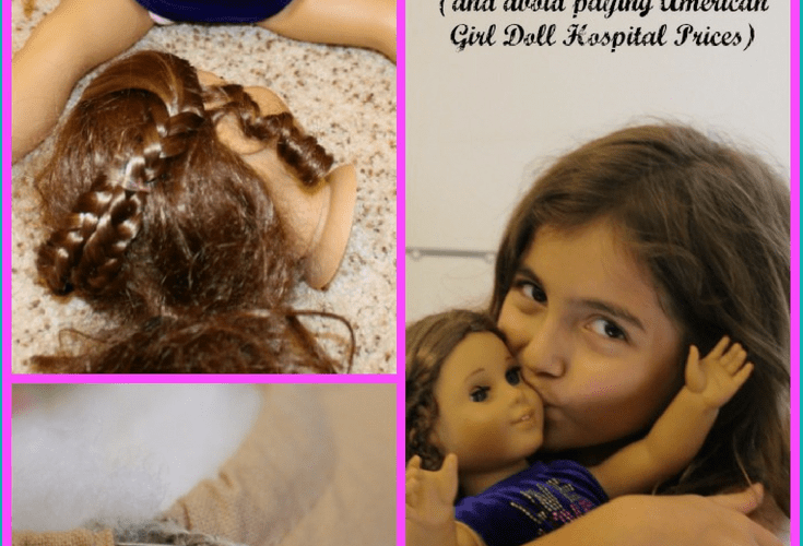 Has your American Girl Doll totally lost her head? I mean, has it fallen off? If so, you can reattach your American Girl Doll's head without having to pay American Girl Doll store prices! This is a super simple DIY American Girl Doll hack that anybody can do! Don't need this hack now? Save it for later, you never know when your doll's head might pop off. #americangirldoll #diy #dollhospital #diydollhospital