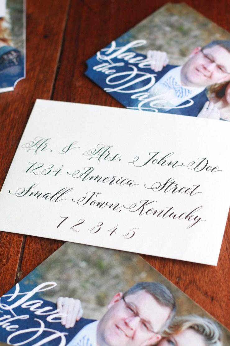 wedding calligraphy hack