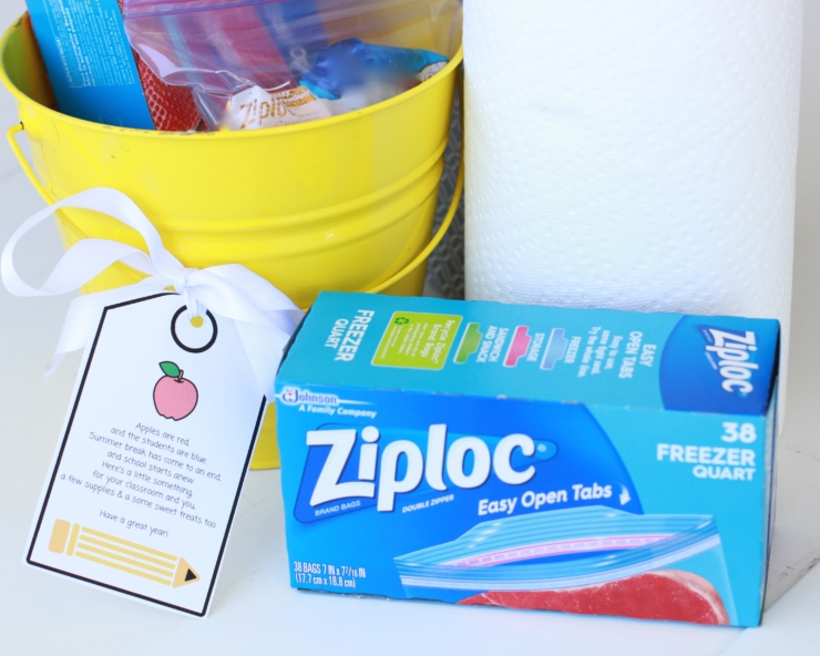 Back-to-school teacher gift basket