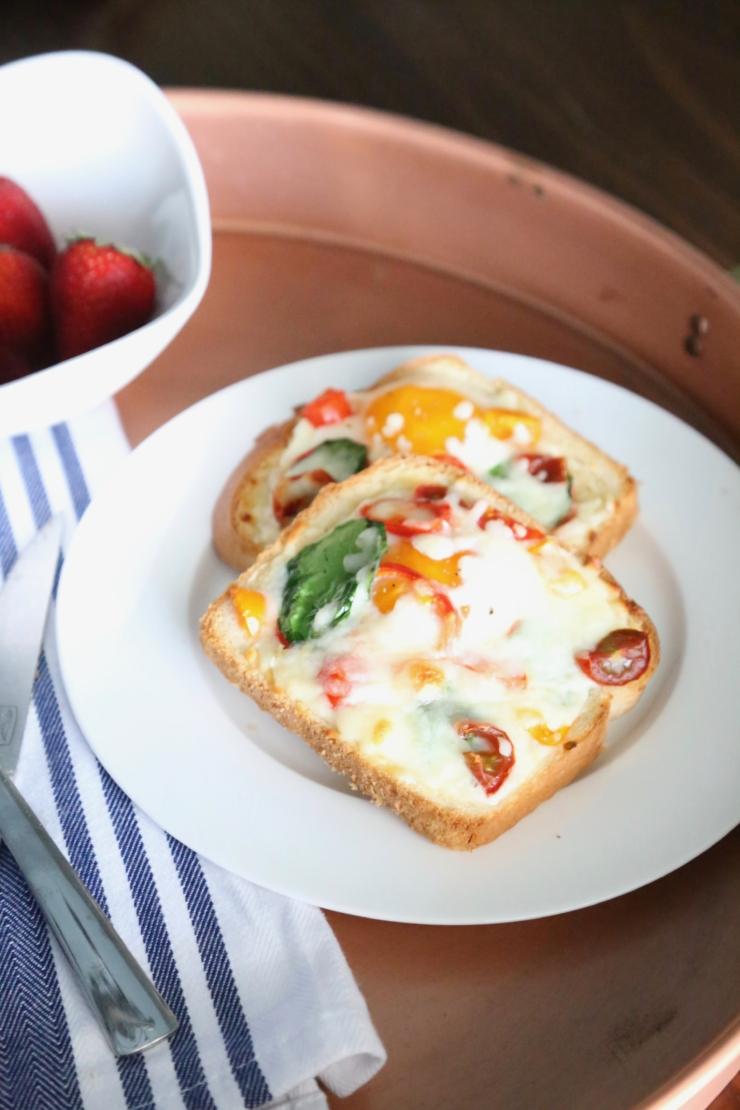 omelette styled egg baked toast