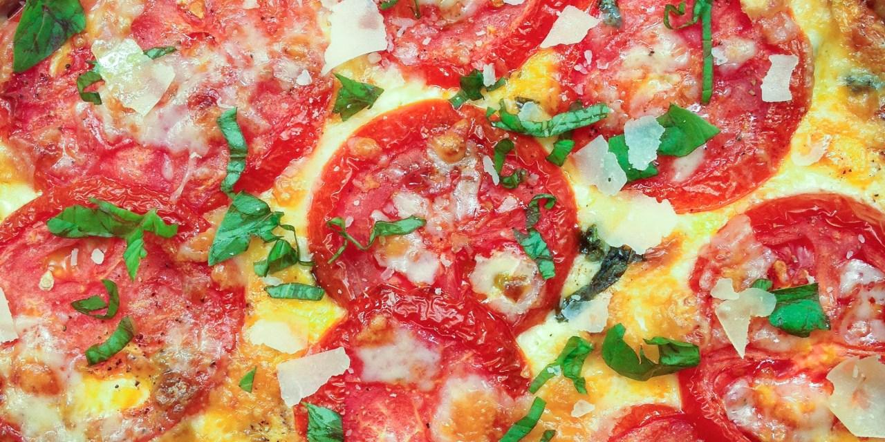 Tomato Pie with Cheese & Pesto