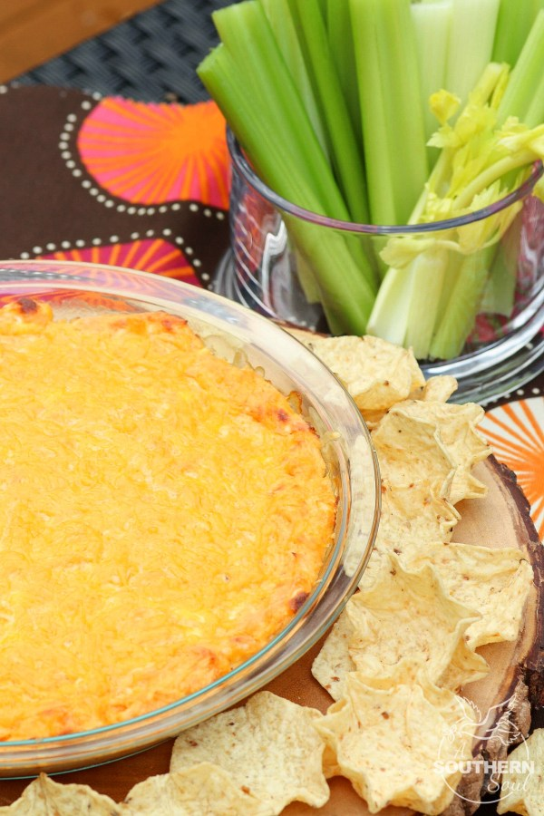 Hot Buffalo Chicken Dip is a great appetizer that full of creamy, cheese goodness!