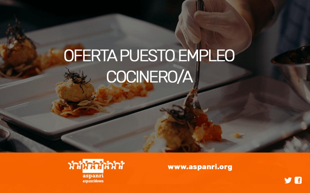 OFERTA PUESTO EMPLEO: COCINERO/A