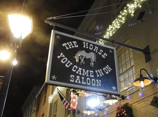 The Horse You Came In On Saloon signpost