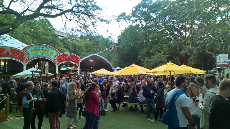 Edinburgh Fringe beer garden