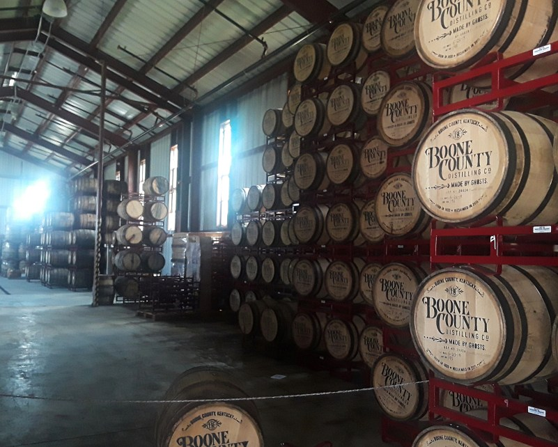 Boone Country Distilling Co. rackhouse