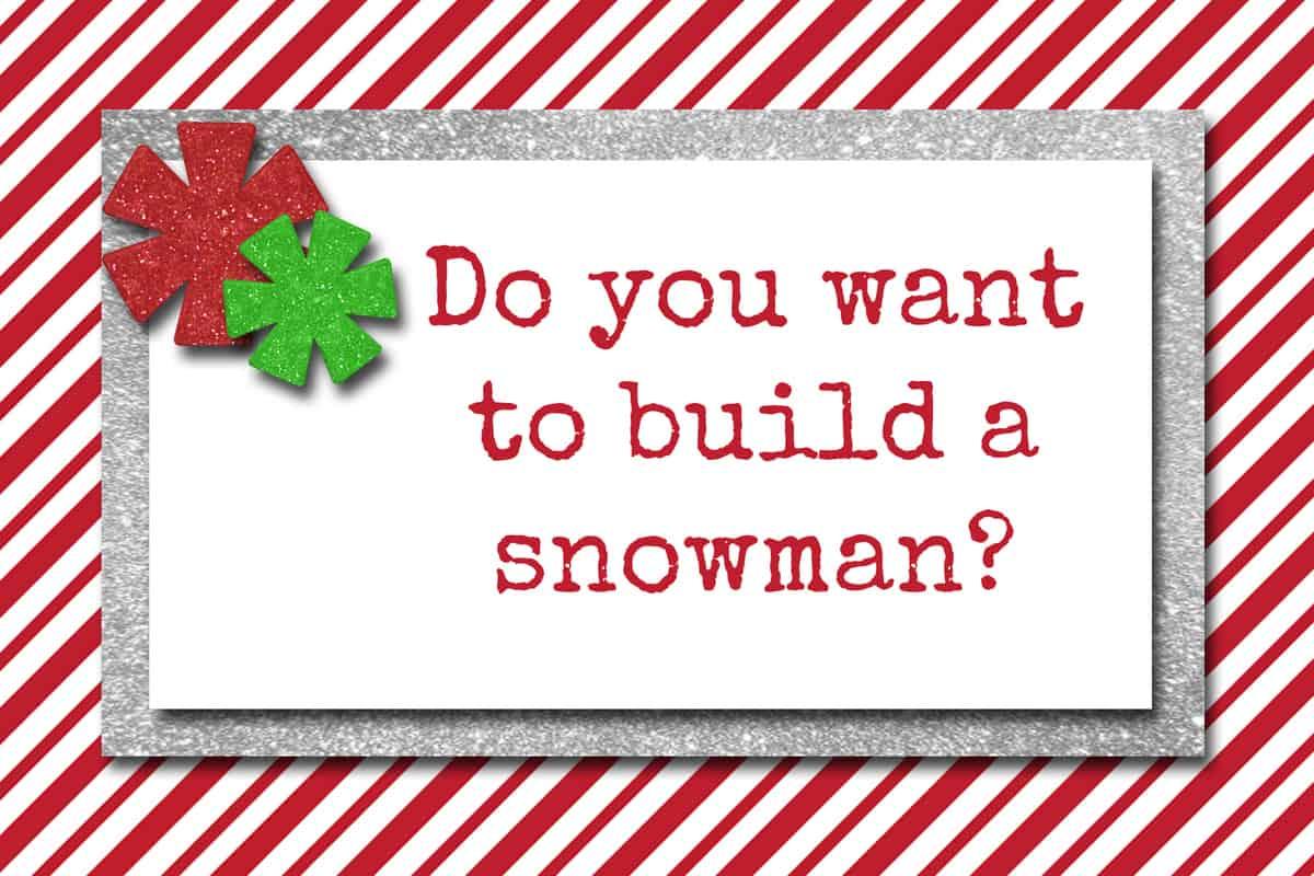 Elf On The Shelf Snowman Idea And Free Printable