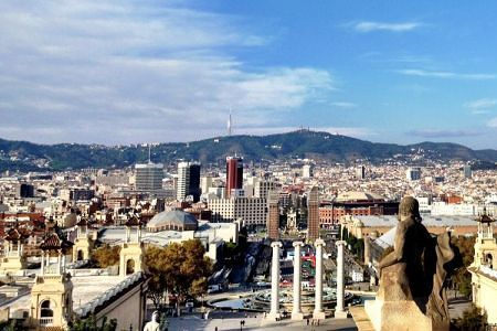Weather in Barcelona: The view from MNAC