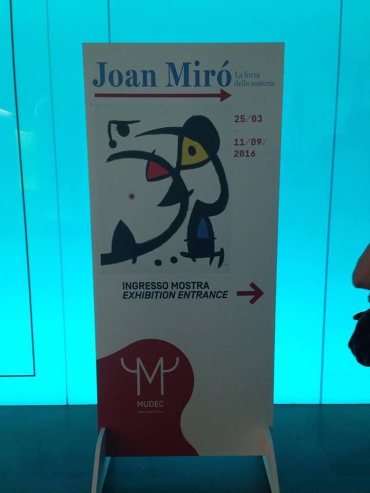 Mostra di Joan Mirò Mudec Milano - entrata all'esposizione