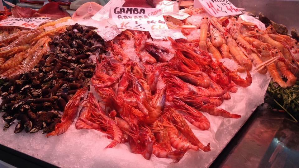 Mercato centrale di Valencia - pesce fresco - aspassoperlaspagna.it