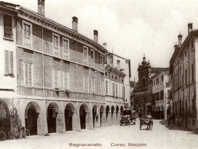 Foto storica Corso Mazzini Bagnacavallo
