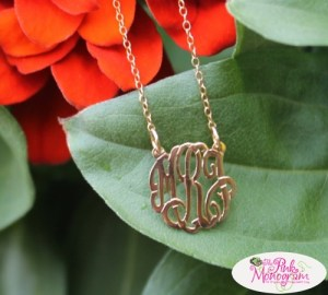 Monogrammed Script Necklace From The Pink Monogram {GIVEAWAY}