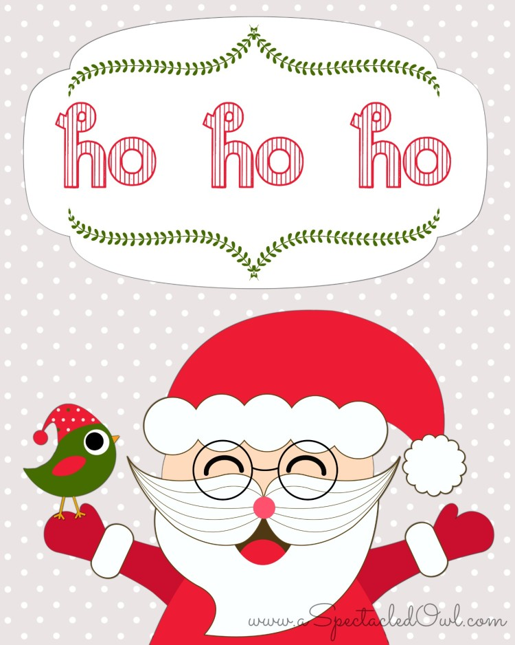 Ho Ho Ho Santa Christmas Printable
