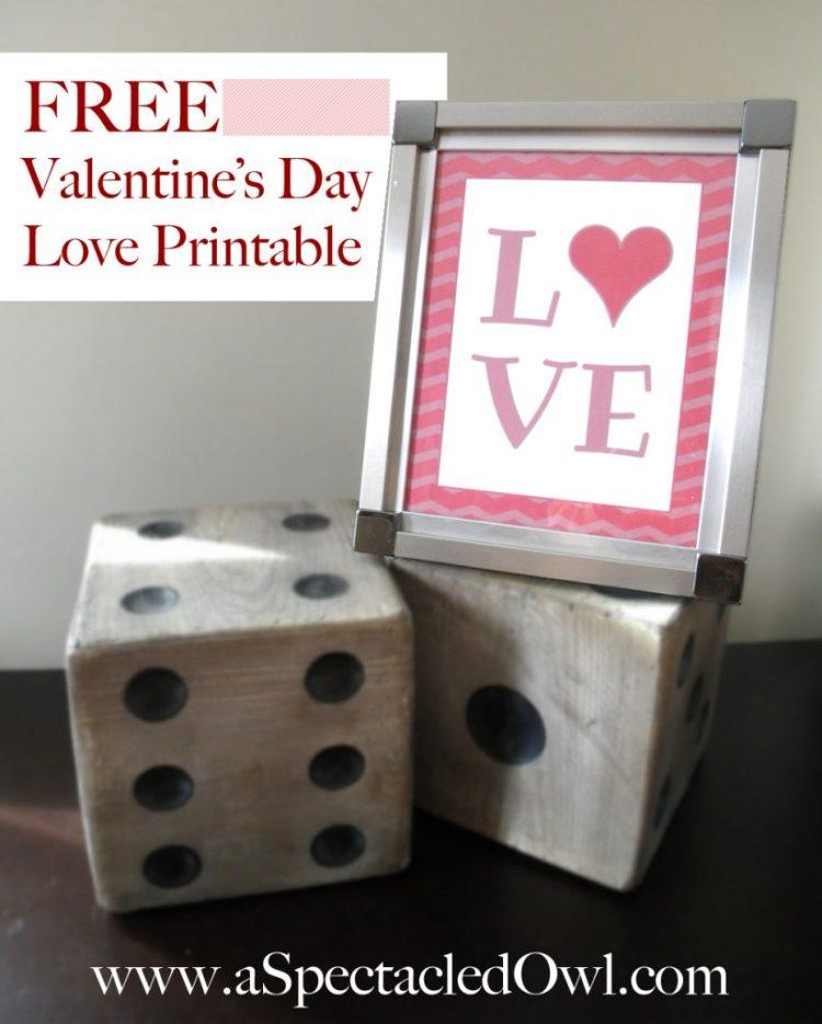 Free Valentine's Day Love Printable