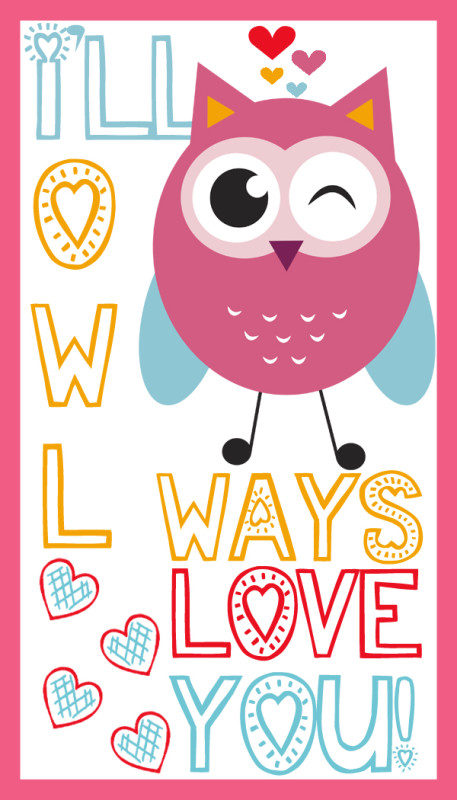 owl printable valentines day cards a spectacled owl