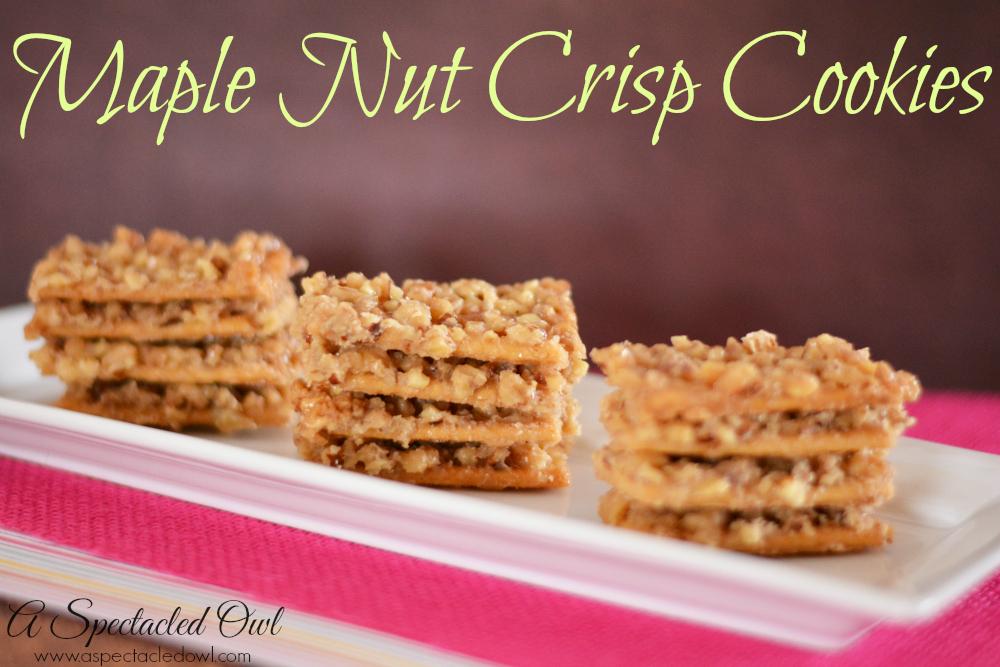 Maple Nut Crisps