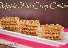 Maple Nut Crisp Cookies