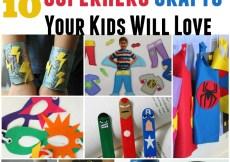 10 Superhero Crafts Your Kids Will Love