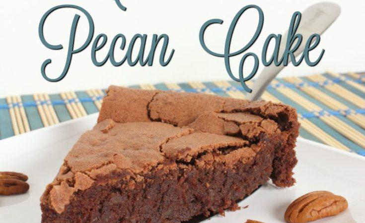Flourless Chocolate Pecan Cake