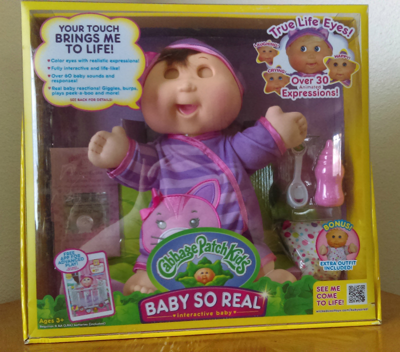Cabbage Patch Kids Baby So Real Interactive Doll