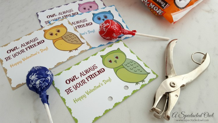 """""""Owl Always Be Your Friend"""" Printable Valentine's Day Cards"""