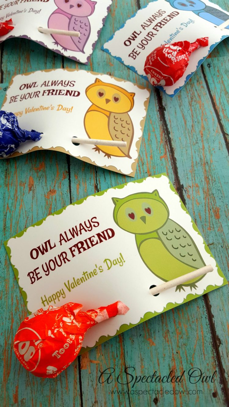 Owl Always Be Your Friend Printable Valentines Day Cards A