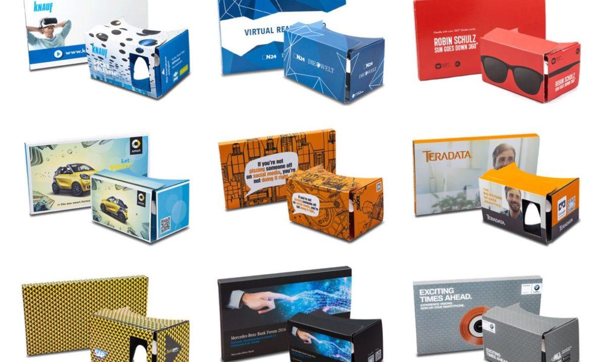 Eine Auswahl an individualisierten Cardboard-Designs
