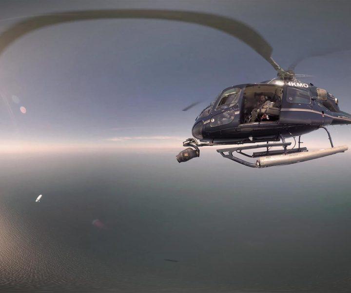 360-Grad-Panorama gefilmt aus einem Helikopter