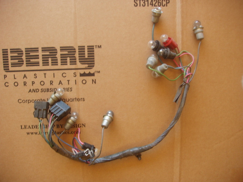 Instrument Cluster Wiring Harness Warning Lights