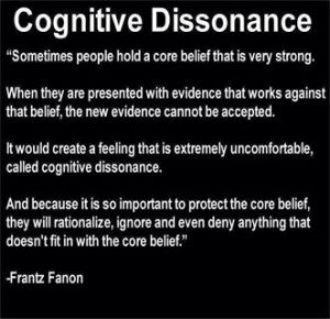 Definition of cognitive dissonance