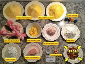 Processed junk pet food