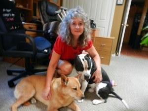 Dr. Kim with her dogs