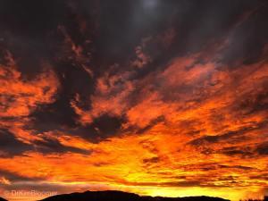 fiery March NM sunrise